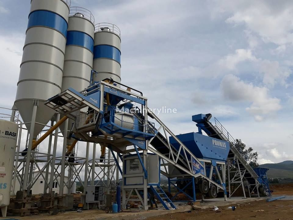 ny PROMAX STAR Mobile Concrete Batching Plant M100-TWN Twin Shaft betongfabrik