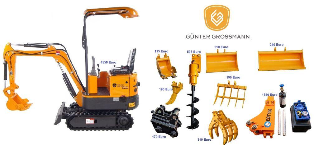 ny Günter Grossmann  GG800 minikoparka + Akcesoria - Mini koparka minigrävare