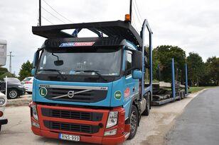 VOLVO FM 460 + LOHR 1.22 biltransport + biltransport trailer