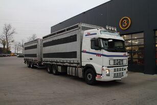 VOLVO FH12.480 6x4 fjäderfätransport + slutet trailer