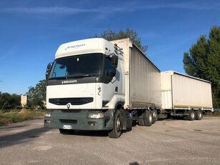 RENAULT PREMIUM 420 DCI + biga Omar + rimorchio centinato tilt lastbil