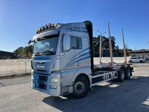 MAN TGX 26.560 6x4, Euro 6, Retarder, Timber-truck, (Crane hydraulic timmerbil