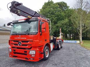 MERCEDES-BENZ Actros 3360 -6x4-hiab crane-steel suspension-alcoa timmerbil