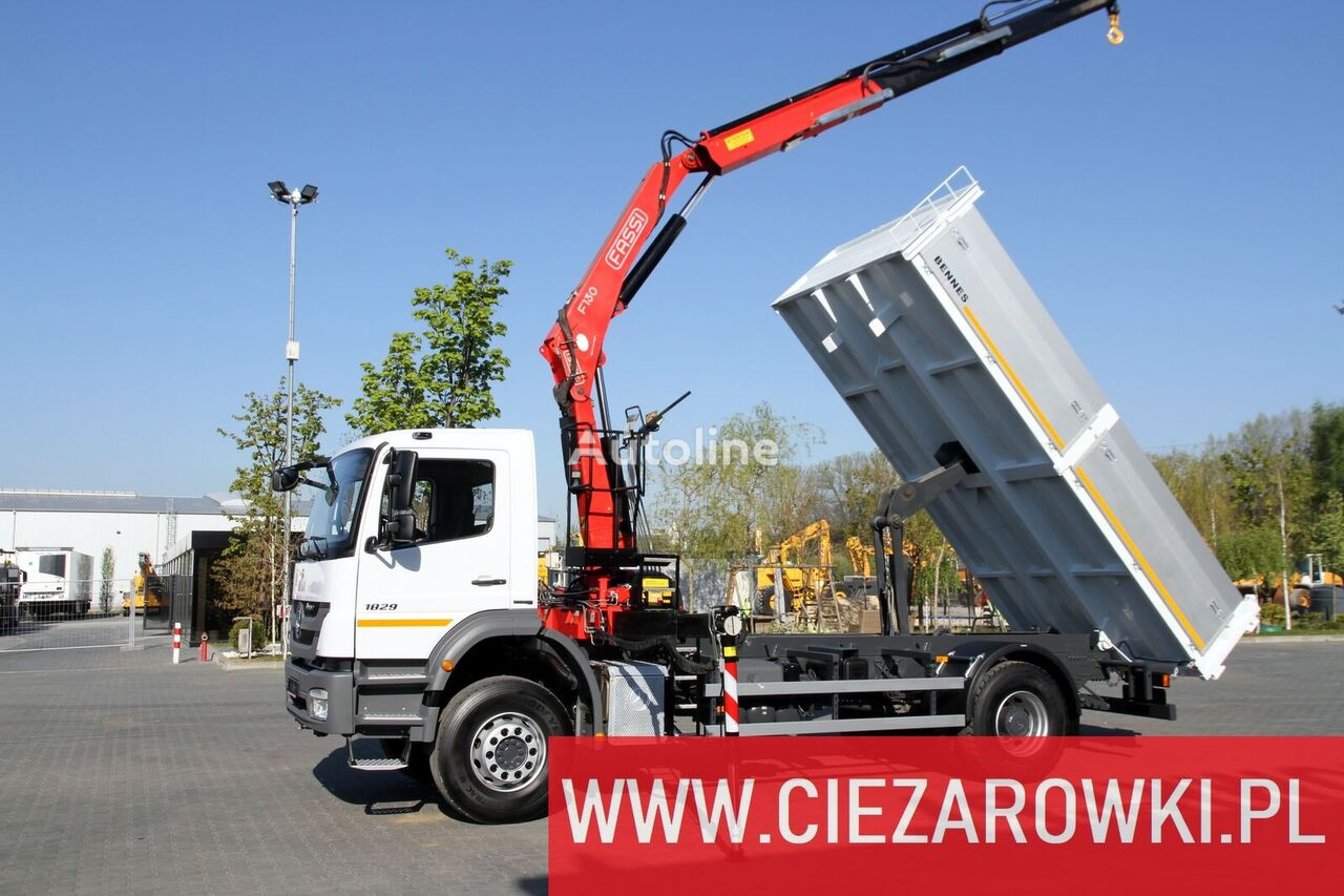 MERCEDES-BENZ AXOR 1829 ONLY 90,000km!!!!! Tipper + crane Fassi 130 / like new tippbil