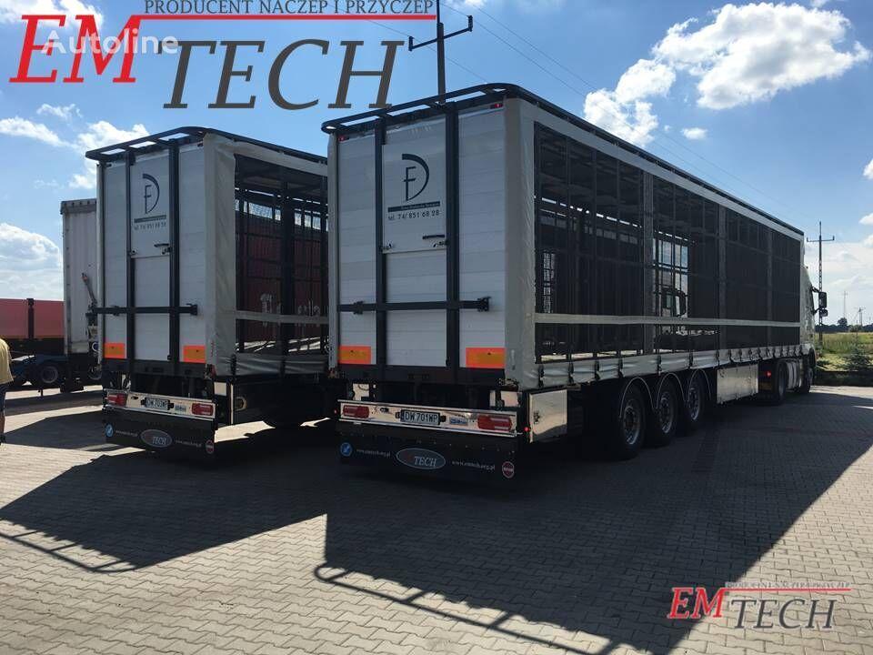 ny EMTECH Naczepa do przewozu drobiu 3 osiowa fjäderfätransport semitrailer