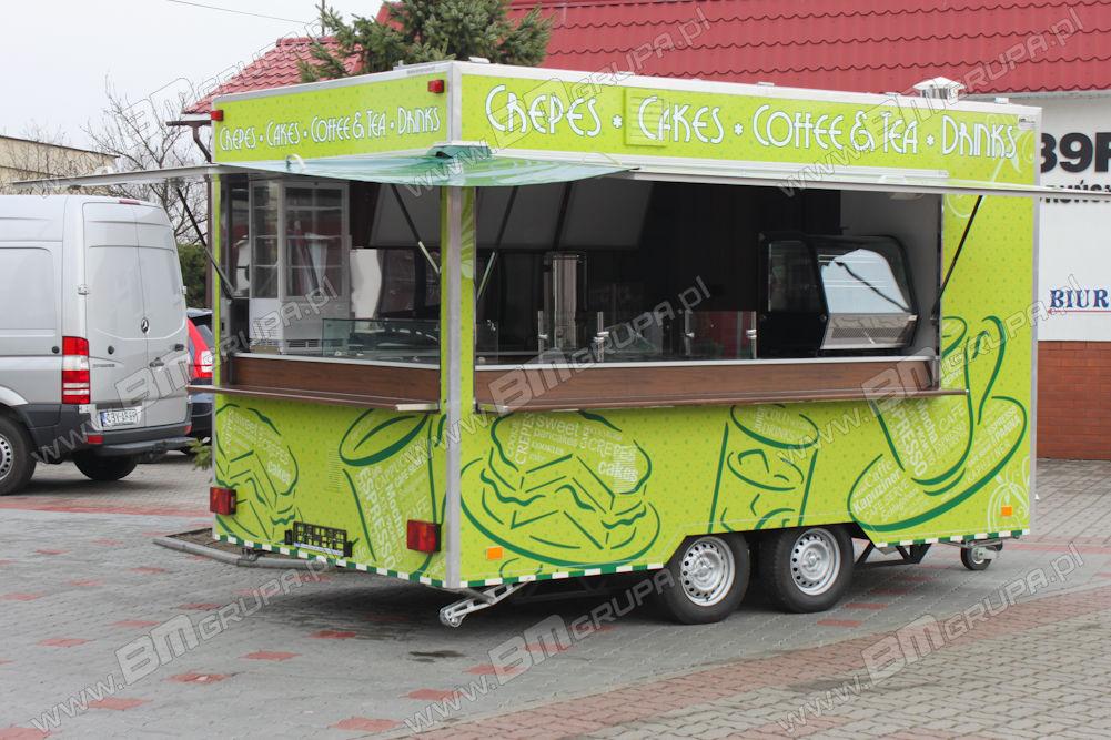 ny BODEX Verkaufsanhänger, Przyczepa Imbiss, do sprzedaży kawy, naleśnikó butik trailer